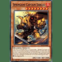 Springans Captain Sargas - BLVO-EN009 - Common 1st Edition