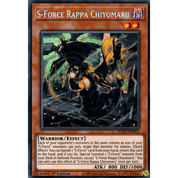 S-Force Rappa Chiyomaru - BLVO-EN011 - Secret Rare 1st Edition
