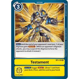 BT1-103 R Testament Option