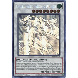 Crystal Wing Synchro Dragon - GFTP-EN130 - Ghost Rare 1st Edition