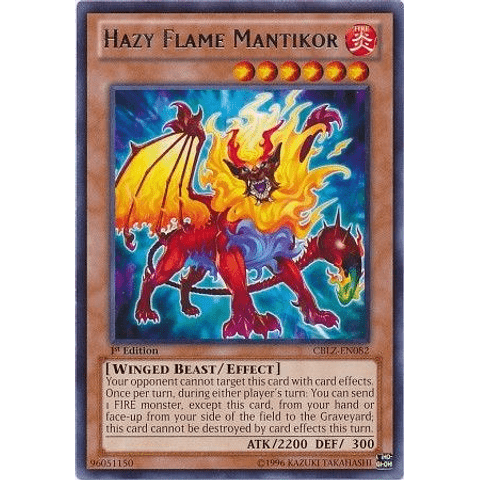 Hazy Flame Mantikor -cblz-en082- Rare 1st Edition
