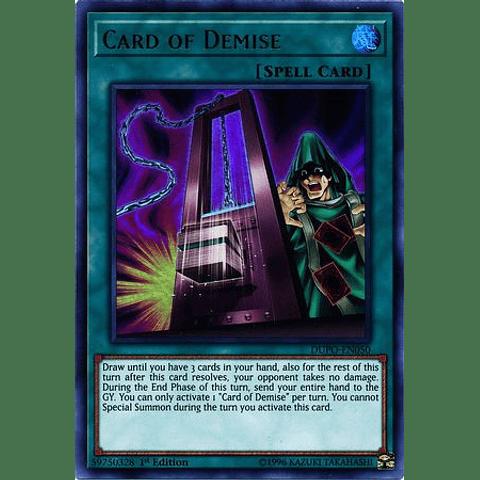 Card Of Demise -dupo-en050- Ultra Rare 1st Edition