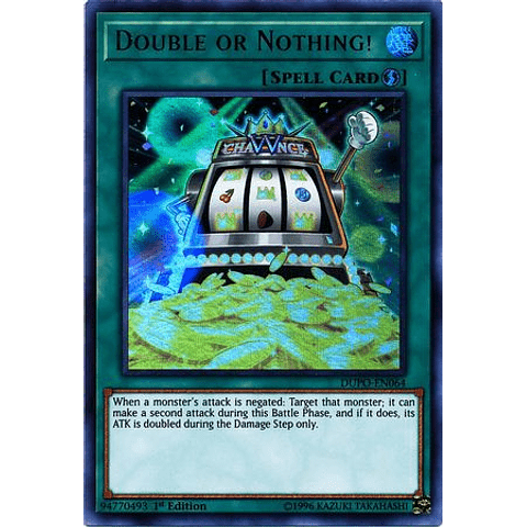 Double Or Nothing! -dupo-en064- Ultra Rare 1st Edition