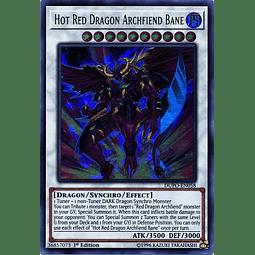 Hot Red Dragon Archfiend Bane - DUPO-EN058 - Ultra Rare 1st Edition