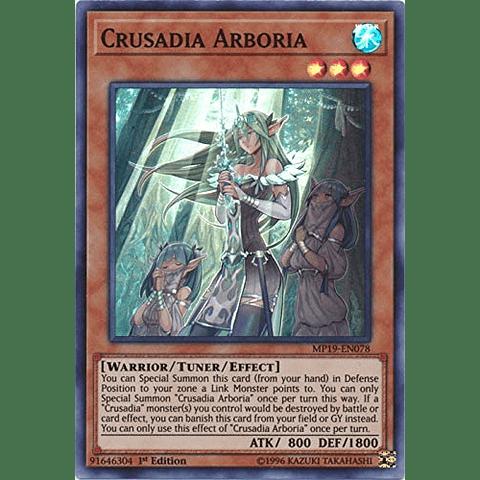 Crusadia Arboria -mp19-en078- Super Rare 1st Edition