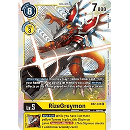 BT2-038 SR RizeGreymon Digimon (Alternate Art)