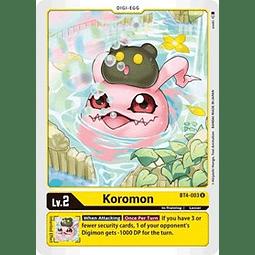 BT4-003 U Koromon Digi-Egg