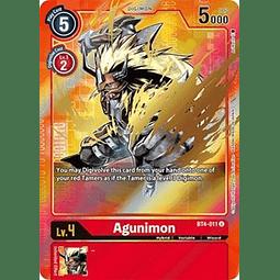 BT4-011 U Agunimon Digimon Parallel Rare