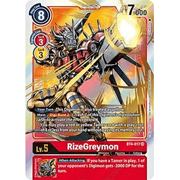 BT4-017 SR RizeGreymon Digimon Parallel Rare
