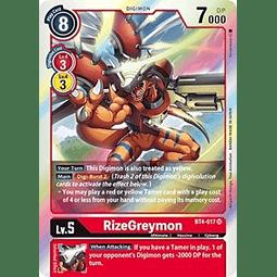 BT4-017 SR RizeGreymon Digimon