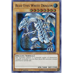 Blue-Eyes White Dragon (Tablet Background) - LCKC-EN001 - Ultra Rare 1st Edition