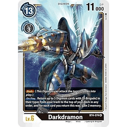 BT4-074 R Darkdramon Digimon  (Pre-Release)