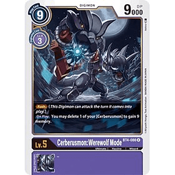BT4-086 R Cerberusmon: Werewolf Mode Digimon  (Pre-Release)