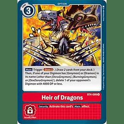 BT4-099 U Heir of Dragons Option  (Pre-Release)
