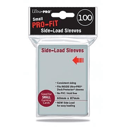 Protectores Small Perfect Fit Transparentes Carga Lateral (x100)