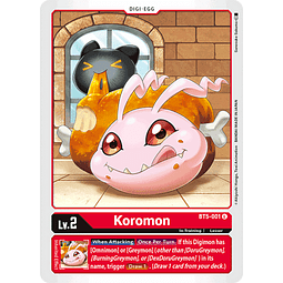 BT5-001 U Koromon (Digi-Egg)