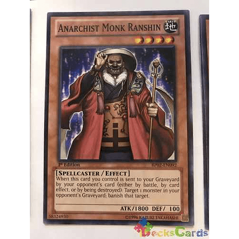 Anarchist Monk Ranshin - bp02-en092 - Common 1st Edition