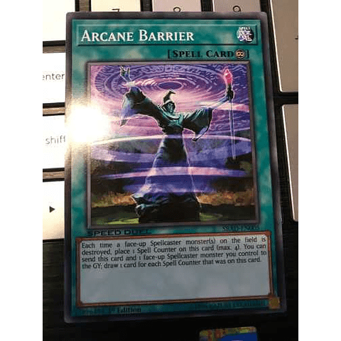 Arcane Barrier - sbad-en005 - Common 1st Edition