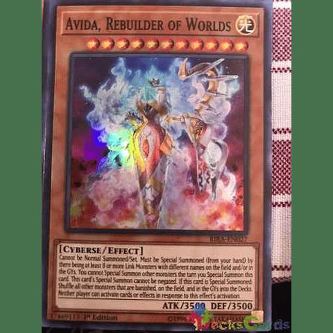 Avida, Rebuilder Of Worlds - rira-en027 - Super Rare 1st Edition