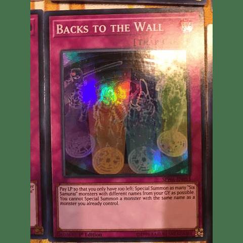 Backs To The Wall -spwa-en053- Super Rare 1st Edition