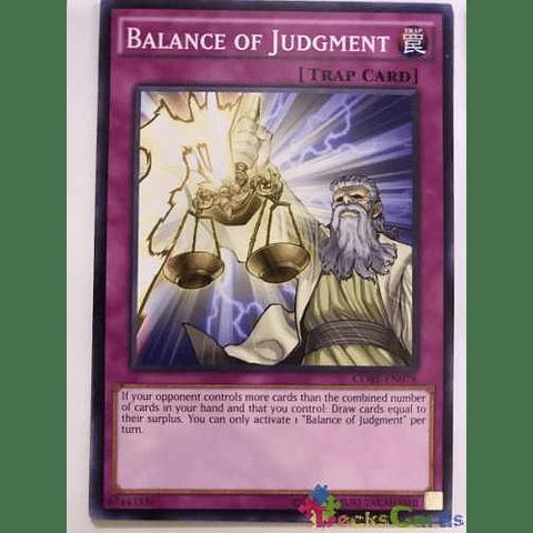 Balance Of Judgment -core-en078- Common Unlimited