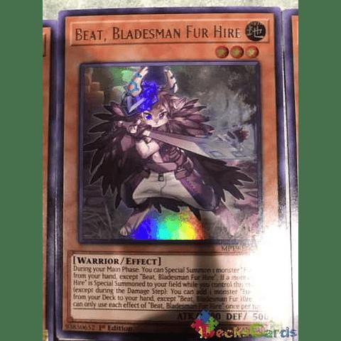 Beat, Bladesman Fur Hire -mp19-en247- Ultra Rare 1st Edition