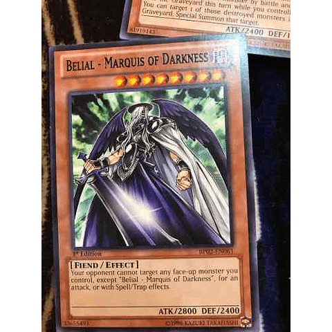 Belial - Marquis Of Darkness - bp02-en061 - Rare 1st Edition