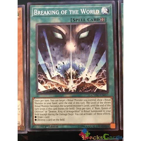 Breaking Of The World -cyho-en057- Common 1st Edition