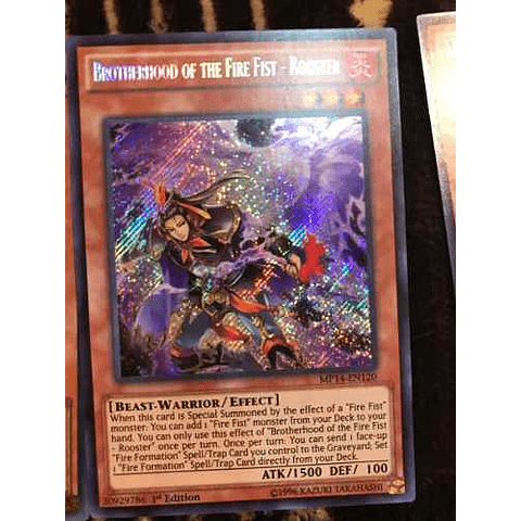 Brotherhood of the Fire Fist - Rooster - MP14-EN120 - Secret Rare 1st Edition