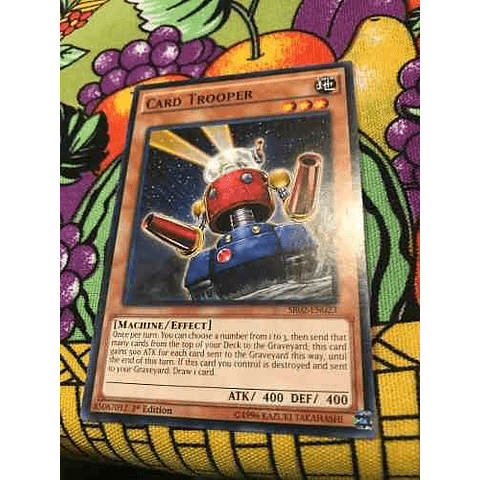 Card Trooper - sr02-en023 - Common 1st Edition