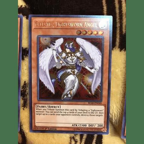 Celestia, Lightsworn Angel -bllr-en040- Ultra Rare 1st Edition