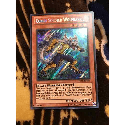 Coach Soldier Wolfbark - jotl-en093 - Secret Rare Unlimited