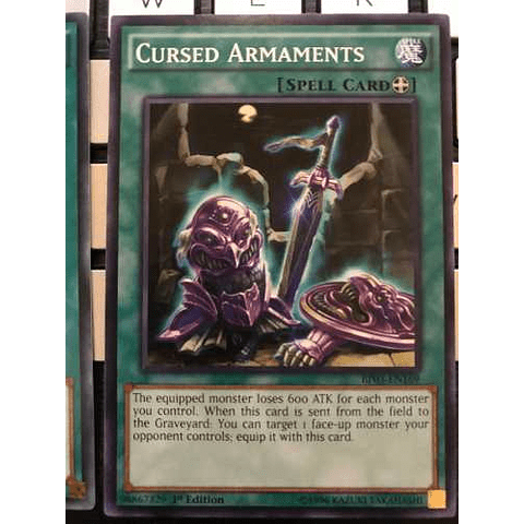 Cursed Armaments - bp03-en169 - Common 1st Edition