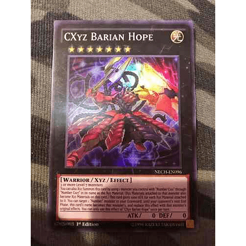Cxyz Barian Hope - nech-en096 - Super Rare 1st Edition