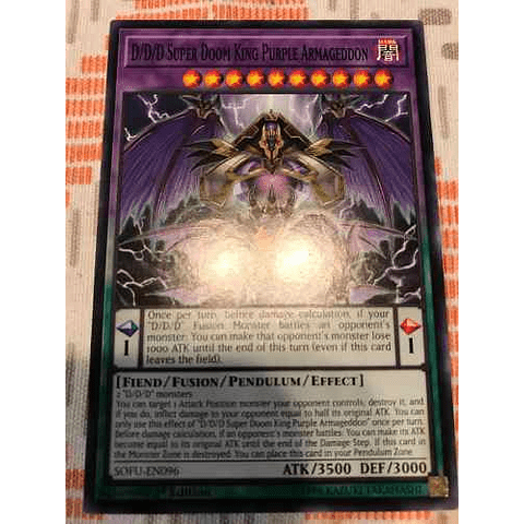D/d/d Super Doom King Purple Armageddon -sofu-en096- Commo