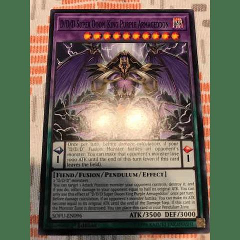 D/d/d Super Doom King Purple Armageddon -sofu-en096- Common 1st Edition