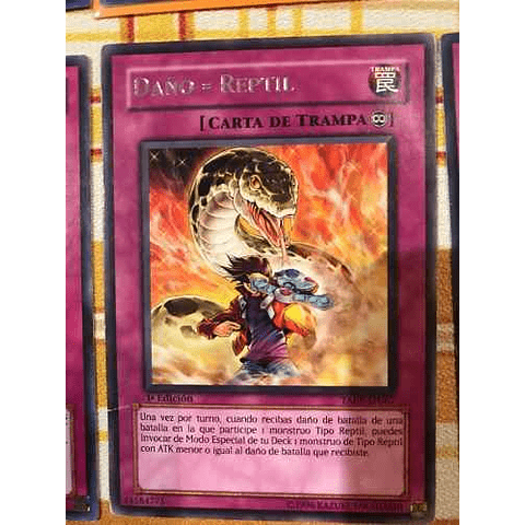 Damage = Reptile - taev-en067 - Rare 1st Edition
