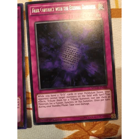 Dark Contract With The Eternal Darkness -macr-en068- Rare 1st Edition