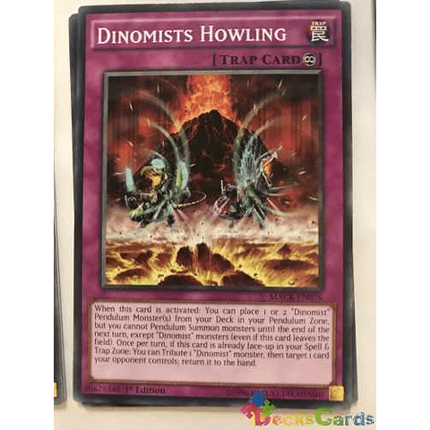 Dinomists Howling -macr-en076- Common 1st Edition