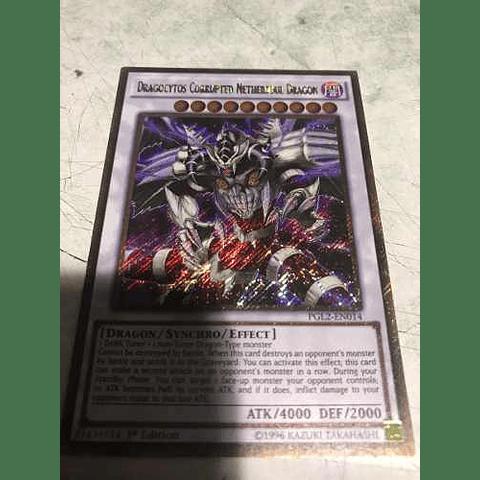 Dragocytos Corrupted Nethersoul Dragon - PGL2-EN014 - Gold Secret Rare 1st Edition