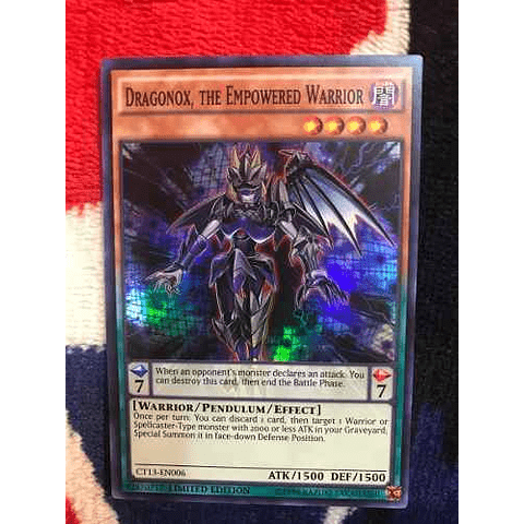 Dragonox, The Empowered Warrior - ct13-en006 - Super Rare Li