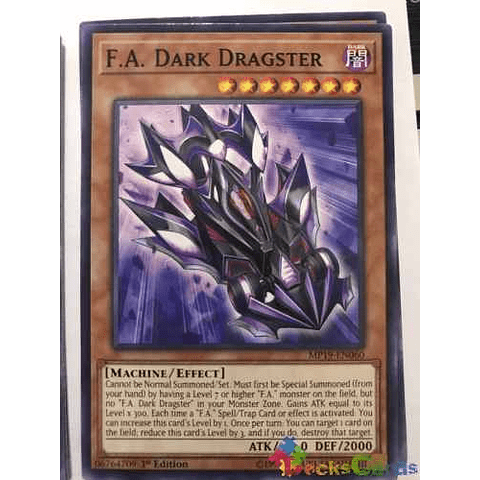 F.a. Dark Dragster - mp19-en060 - Common 1st Edition