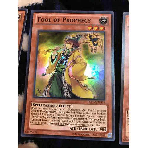 Fool Of Prophecy -cblz-en035- Super Rare Unlimited