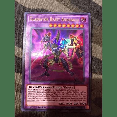 Gladiator Beast Andabata -bllr-en022- Ultra Rare 1st Editi