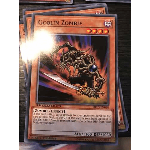 Goblin Zombie -sbad-en018- Common 1st Edition