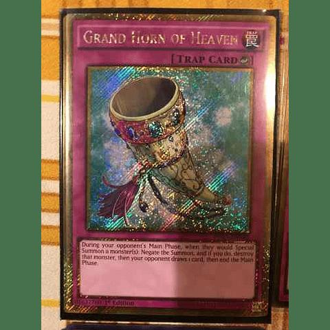 Grand Horn of Heaven - PGL3-EN040 - Gold Secret Rare 1st Edition