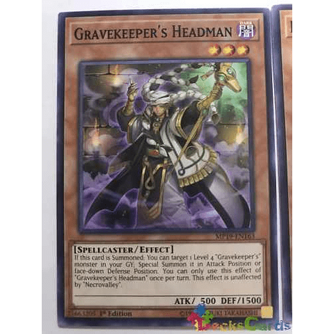 Gravekeeper's Headman -mp19-en163- Common 1st Edition