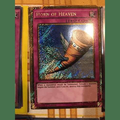 Horn Of Heaven -pgl3-en034- Gold Secret Rare 1st Edition