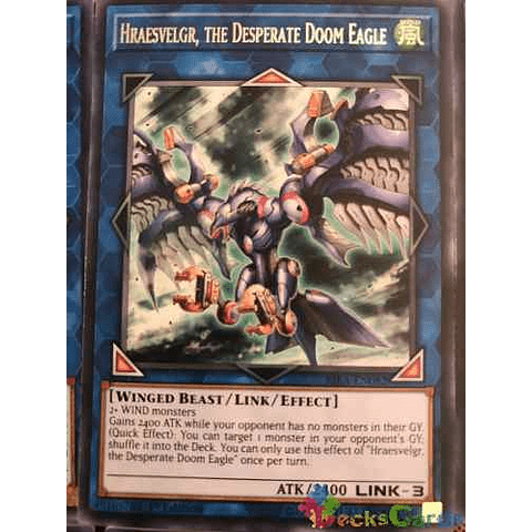 Hraesvelgr, The Desperate Doom Eagle - rira-en082 - Rare 1st Edition