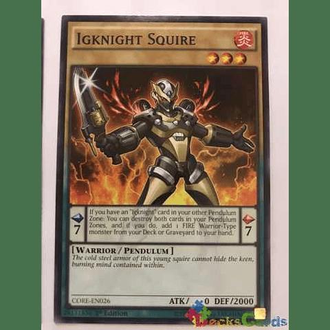Igknight Squire -core-en026- Common 1st Edition
